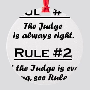 Rule Judge Round Ornament