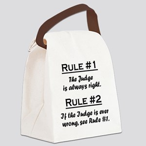 Rule Judge Canvas Lunch Bag