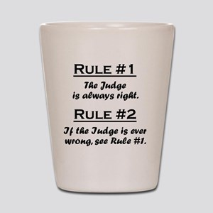 Rule Judge Shot Glass