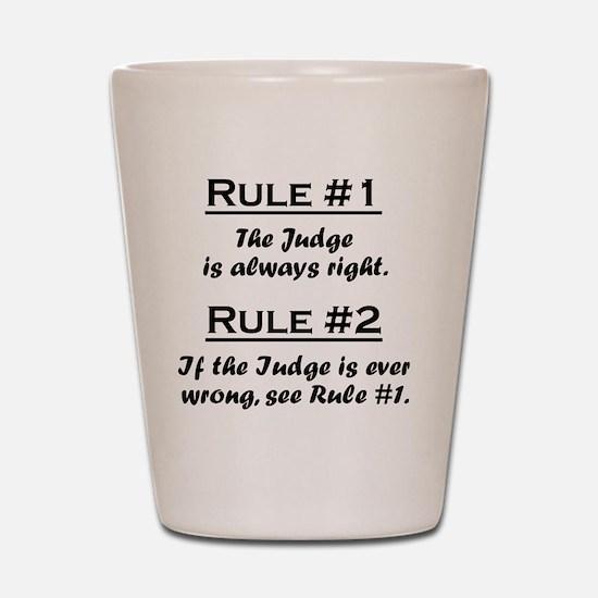 Rule Judge Shot Glass