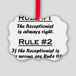 Rule Recptionist Picture Ornament