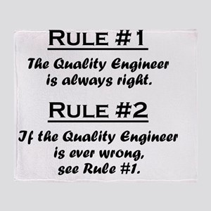 Rule Quality Engineer Throw Blanket