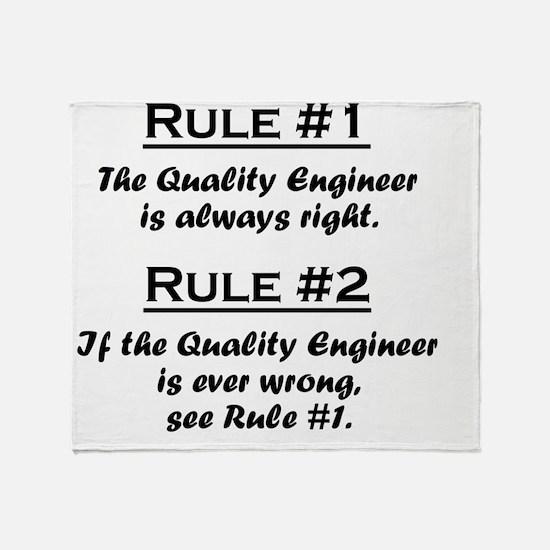 Rule Quality Engineer Throw Blanket