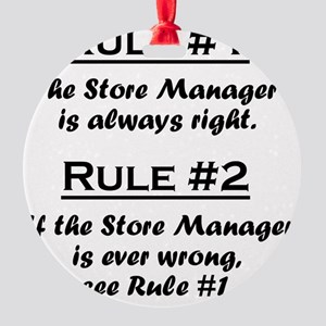 Rule Store Manager Round Ornament