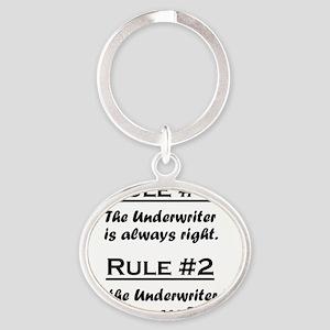 Rule Underwriter Oval Keychain