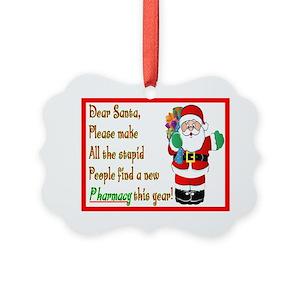 pharmacy technician gifts cafepress - Pharmacy Christmas Ornaments