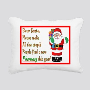 Pharmacy Dear Santa Card Rectangular Canvas Pillow