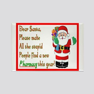 Pharmacy Dear Santa Cards Rectangle Magnet