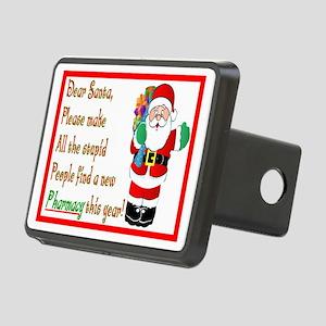Pharmacy Dear Santa Cards Rectangular Hitch Cover
