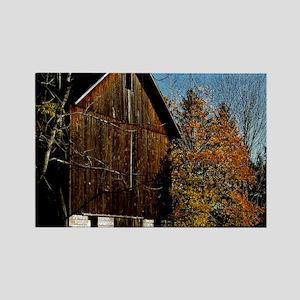 calendar brown barn Rectangle Magnet