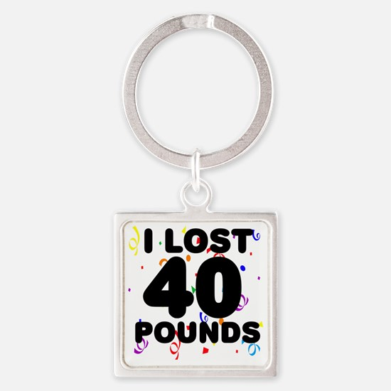 40Party Square Keychain