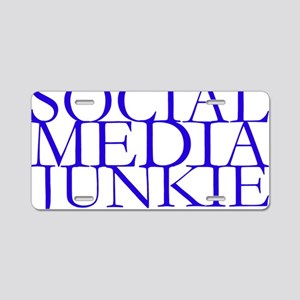Social Media Junkie Aluminum License Plate