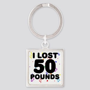 50Party Square Keychain