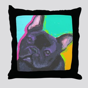 black1 large cafe Throw Pillow