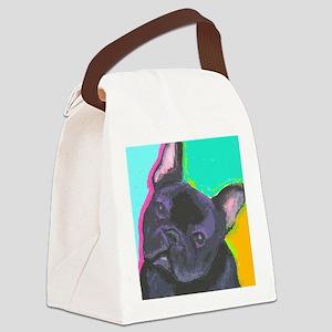 black1 large cafe Canvas Lunch Bag