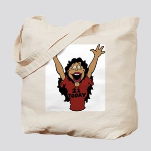 21 Year Old Hot Girl Birthday Tote Bag