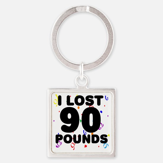 90Party Square Keychain
