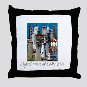 Lake Erie Dark Throw Pillow