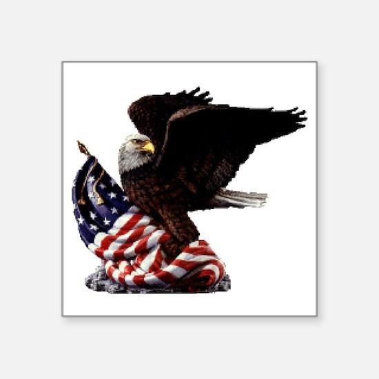 "eagle1huge clean5 Square Sticker 3"" x 3"""