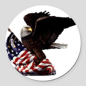 eagle1huge clean5 Round Car Magnet