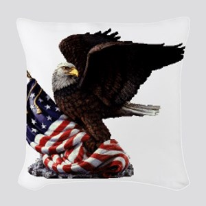 eagle1huge clean5 Woven Throw Pillow