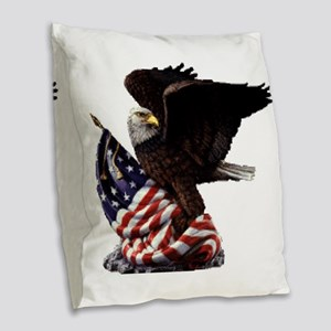 eagle1huge clean5 Burlap Throw Pillow