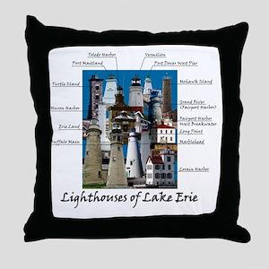 Lake Erie Designt Throw Pillow