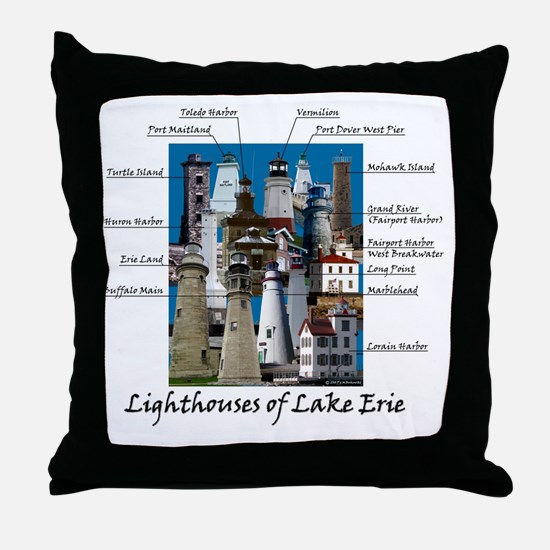 Lake Erie Designt Throw Pillow