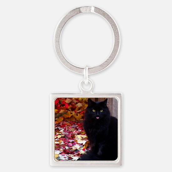 calendar kitty with an attitude Square Keychain