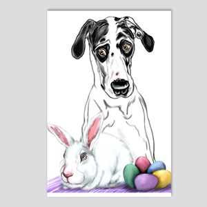 Great Dane Easter Rabbits? Postcards (Package of 8
