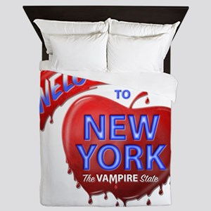 The Vampire State Pillow Queen Duvet
