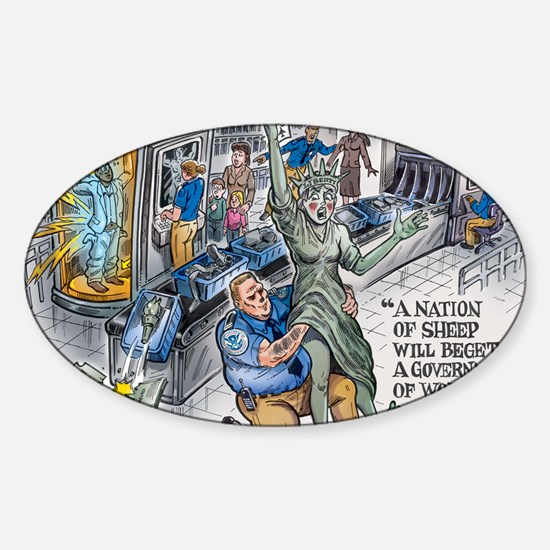 A nation of Sheep...TSA Abuse Sticker (Oval)