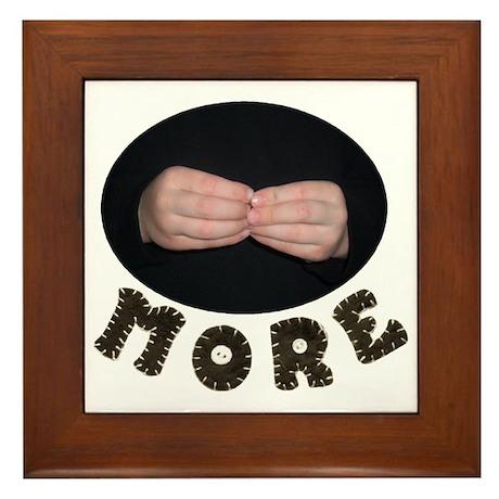 """ASL: Baby Signs """"More"""" Framed Tile"""