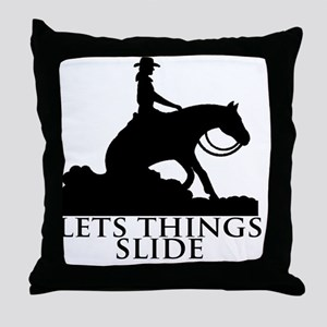 slide for black Throw Pillow