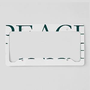 Peace Junkie License Plate Holder