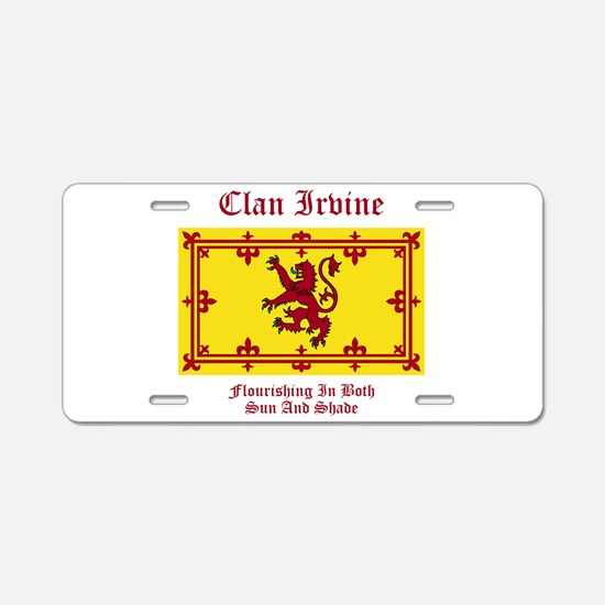 Irvine Aluminum License Plate