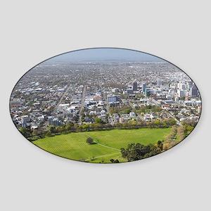 New Zealand - aerial Christchurch,  Sticker (Oval)