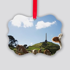 Cows and Obelisk, One Tree Hill D Picture Ornament