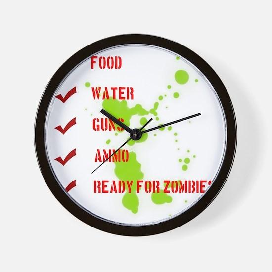 zombieready Wall Clock