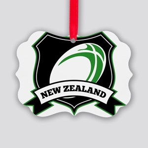 new zealand rugby ball shield Picture Ornament