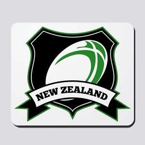 new zealand rugby ball shield Mousepad