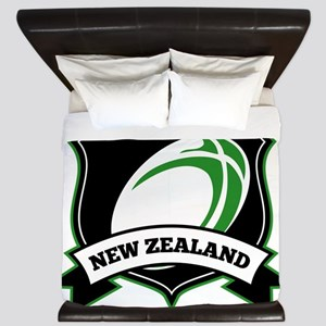 new zealand rugby ball shield King Duvet