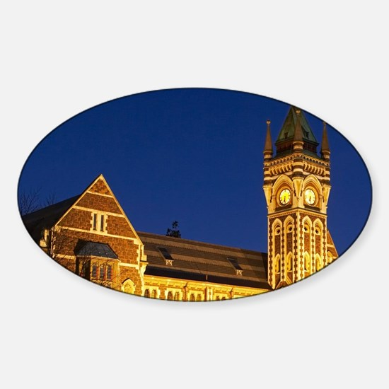 Historic Registry Building, Univers Sticker (Oval)