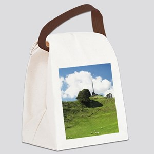 Sheep and Obelisk, One Tree Hill  Canvas Lunch Bag