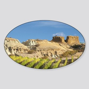 Mt Difficulty Vineyard in Autumn, a Sticker (Oval)