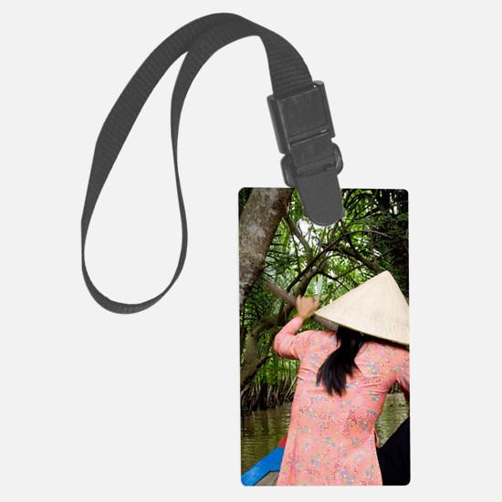 Traditional sampan boatty (aka S Luggage Tag