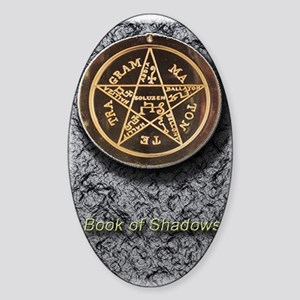 book of shadows 5x8_journal Sticker (Oval)