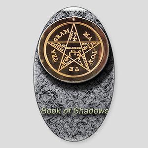 book of shadows 5x8_journal Sticker (Oval)