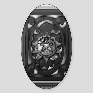 medieval pagan 5x8_journal Sticker (Oval)