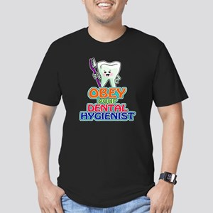 KawaiiToothwithBrushOb Men's Fitted T-Shirt (dark)